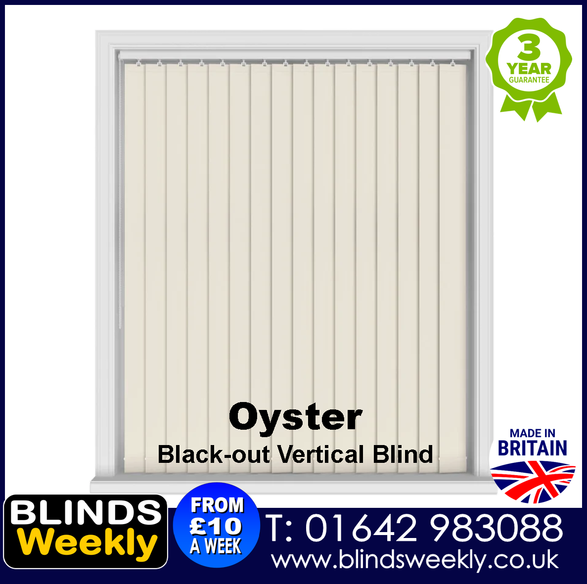 Blinds Weekly Blackout Vertical Blind - Oyster