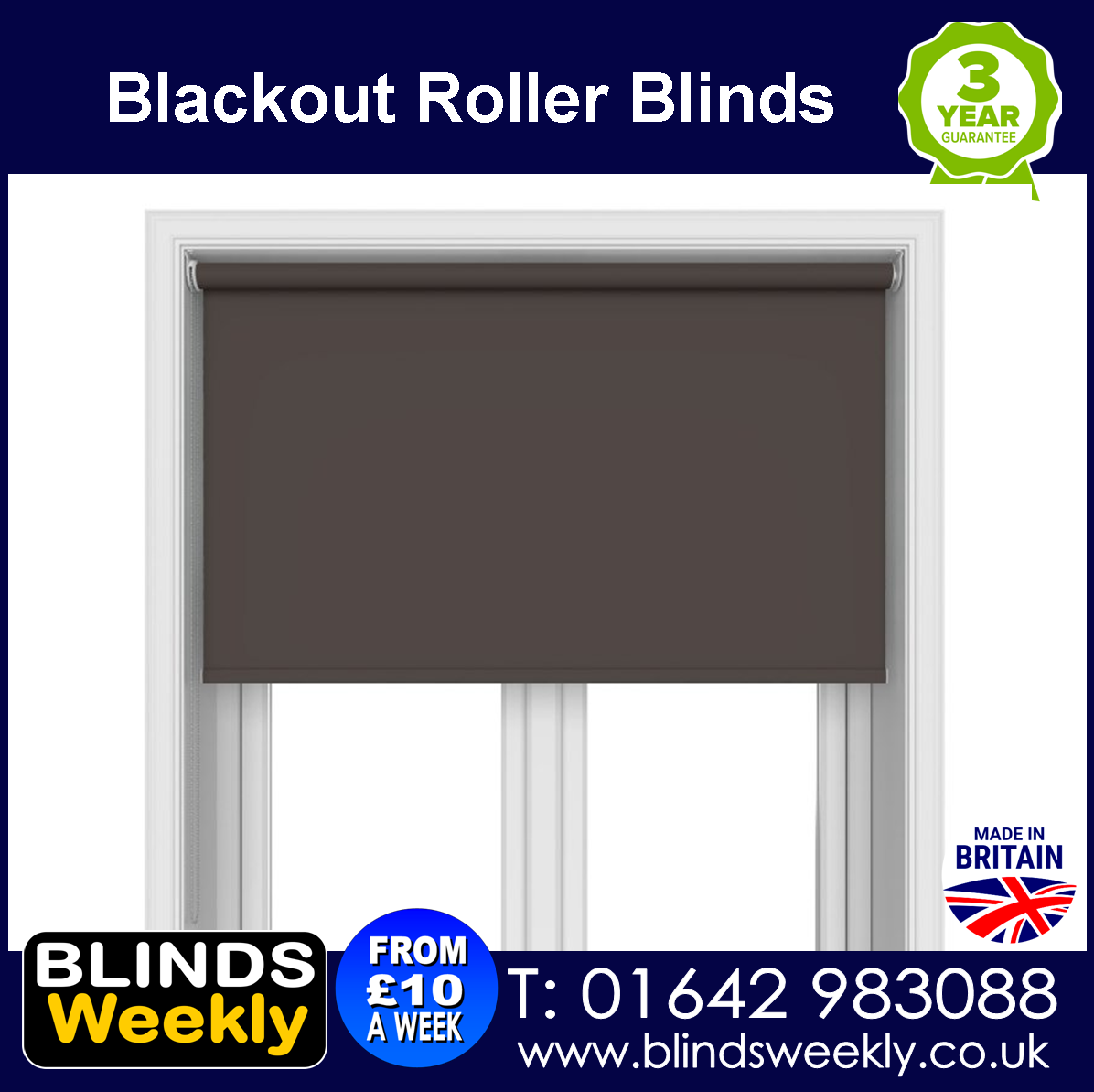Blackout roller blinds from Blinds weekly Tel 01642 983088