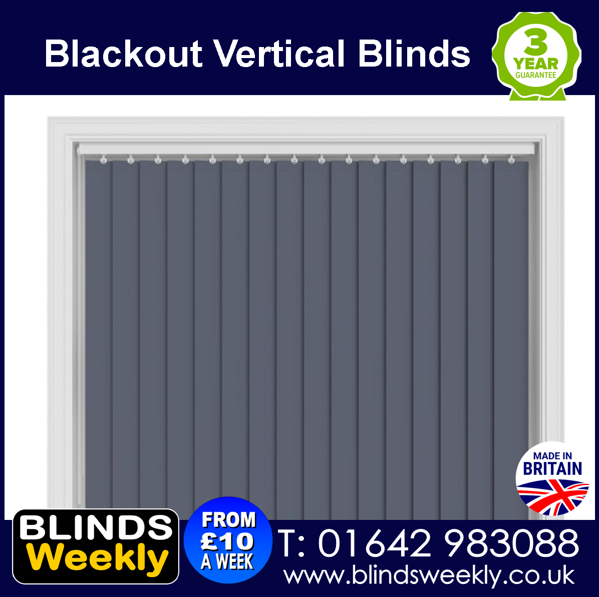 Blackout Vertical Blinds from Blinds Weekly 01642 983088