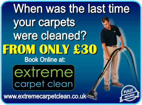 When was the last time your carpets were cleaned? Visit Extreme Carpet Clean for more info Tel 01642 983088
