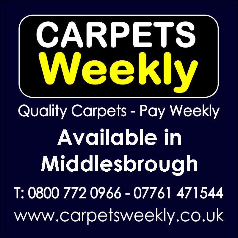 Carpets Weekly. Buy carpets and pay weekly in Middlesbrough