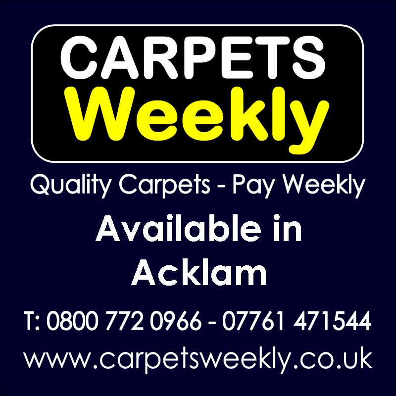 Carpets Weekly. Buy carpets and pay weekly in Acklam