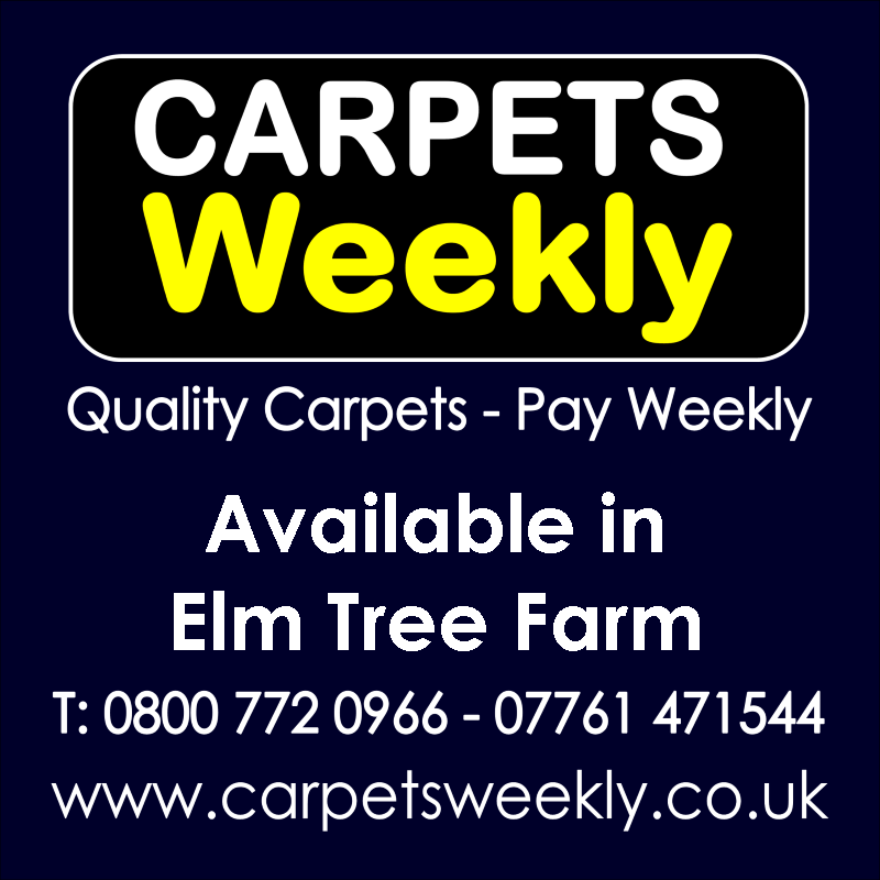 Carpets Weekly. Buy carpets and pay weekly in Elm Tree Farm