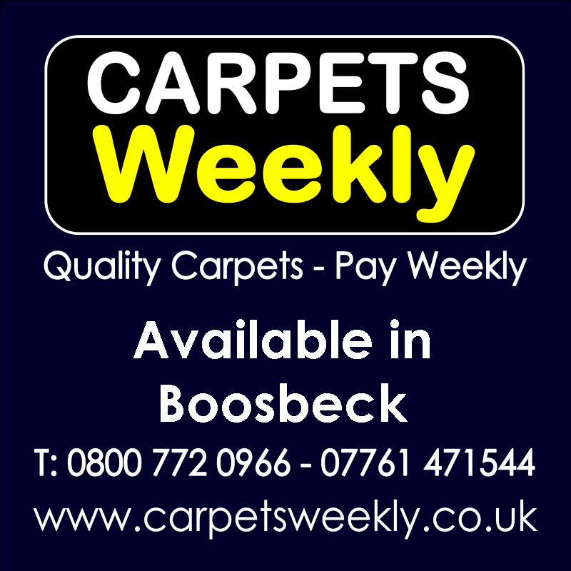 Carpets Weekly. Buy carpets and pay weekly in Boosbeck