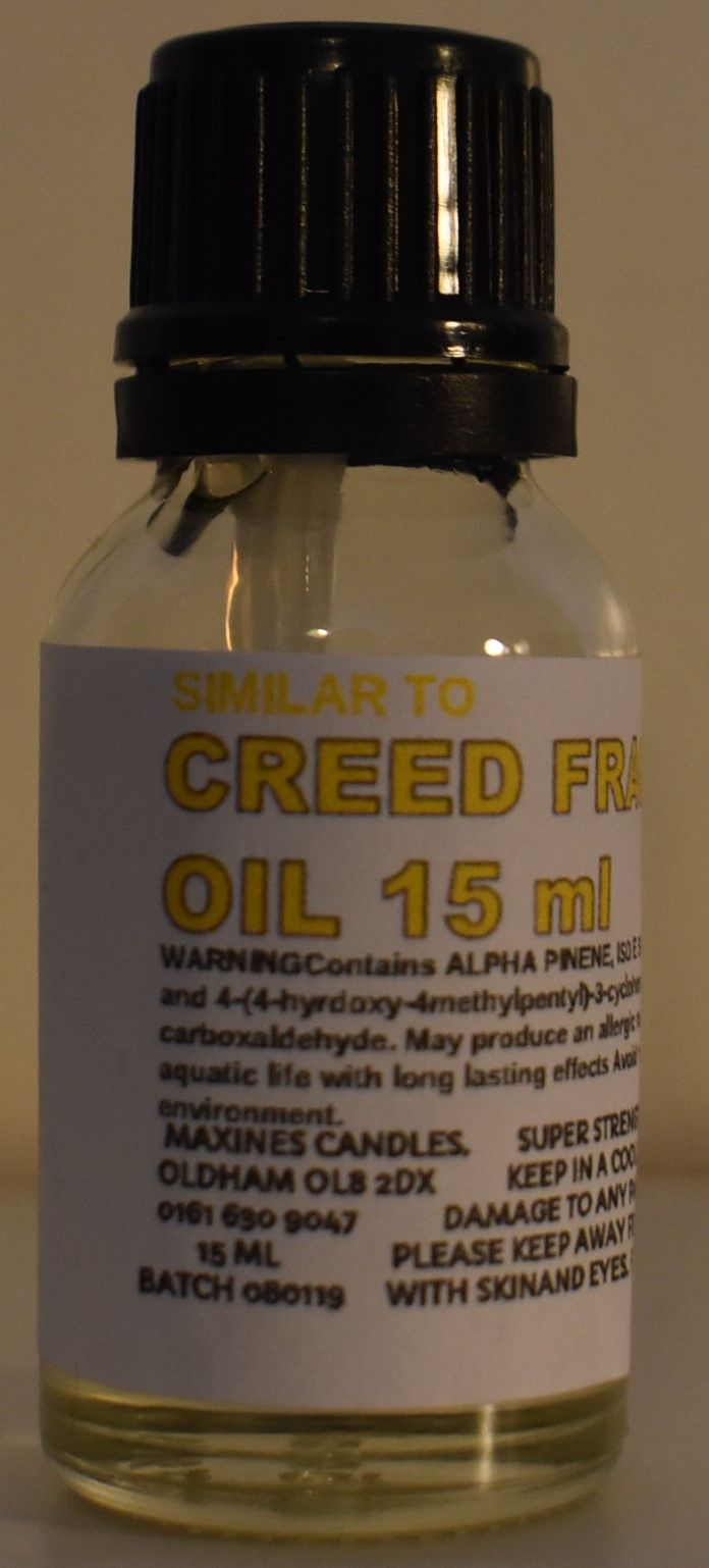 SIMILAR TO  CREED DESIGNER FRAGRANCE OIL 15ml