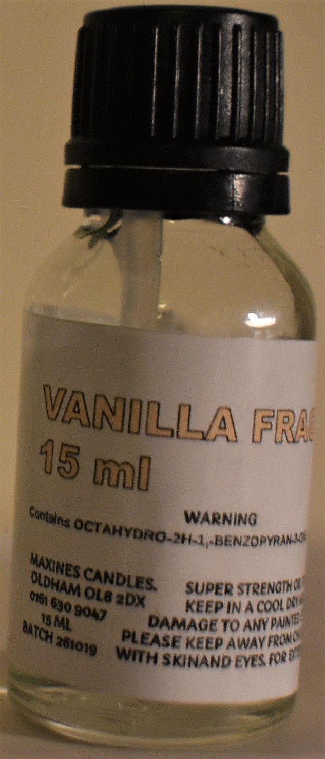 VANILLA FRAGRANCE OIL 15 ML EXTRA STRONG