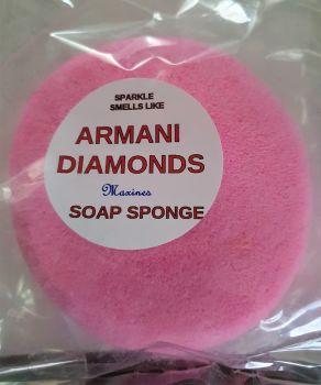 DIAMONDS ROUND SOAP SPONGE FOR EASIER GRIP