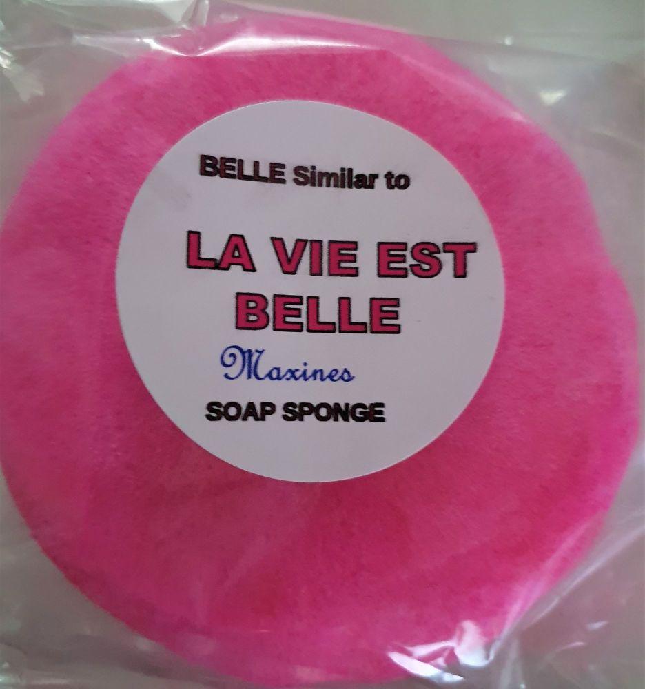 LA VIE EST BELLE ROUND SOAP SPONGE FOR EASIER GRIP