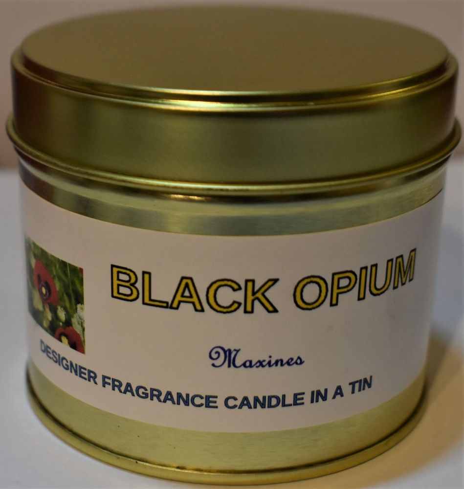 BLACK OPIUM CANDLE IN A TIN 200g