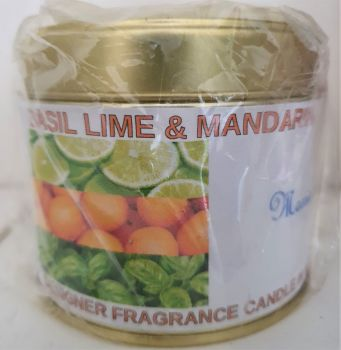 BASIL LIME & MANDARIN CANDLE IN A TIN 200g