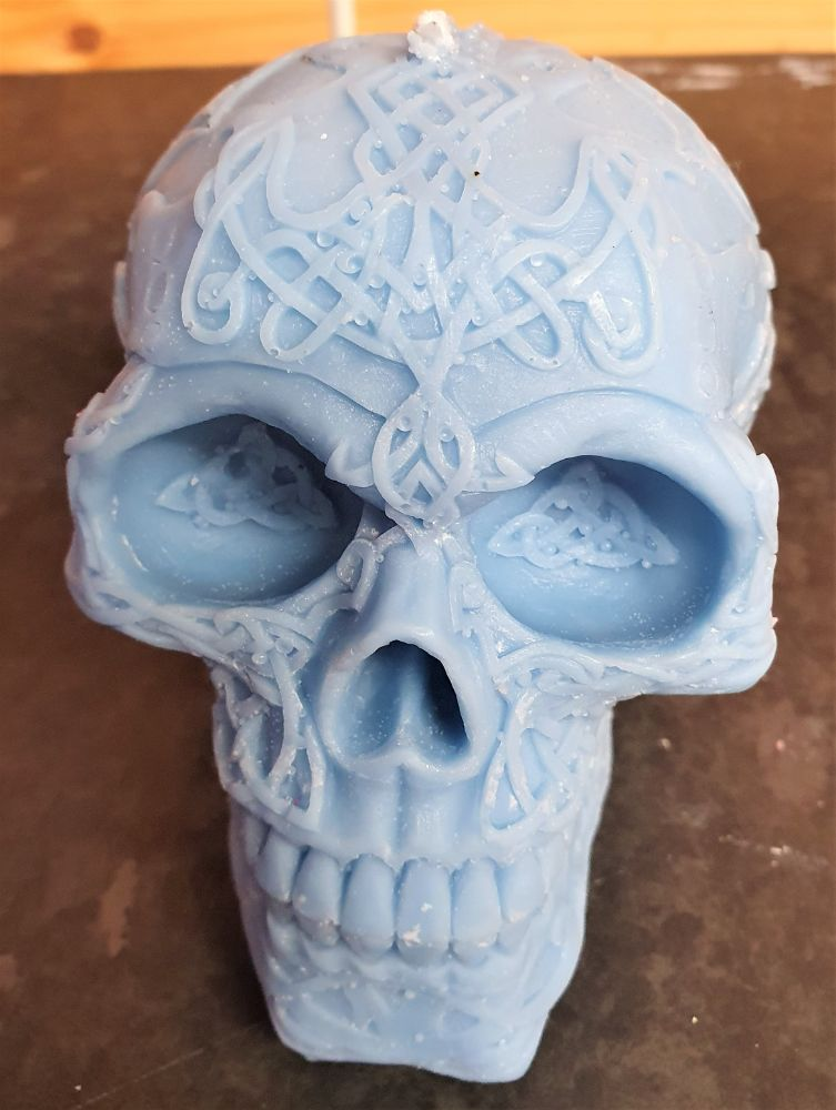 SCENTED SKULL CANDLES and PLATES
