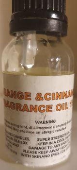 ORANGE & CINNAMON DIFFUSER FRAGANCE OIL 15ML