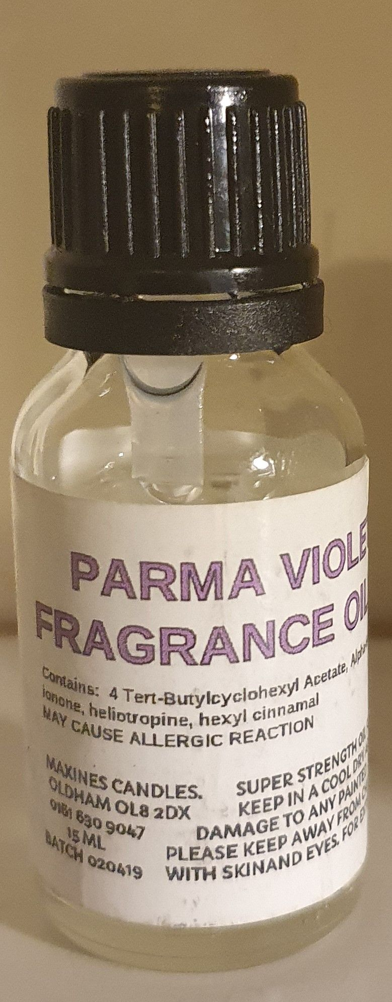 PARMA VIOLET DIFFUSER FRAGRANCE OIL 15ML