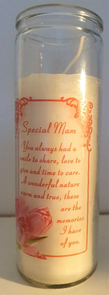 UNSCENTED MEMORIAL CANDLES IN A GLASS
