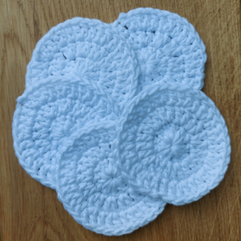 Face Scrubbies - White