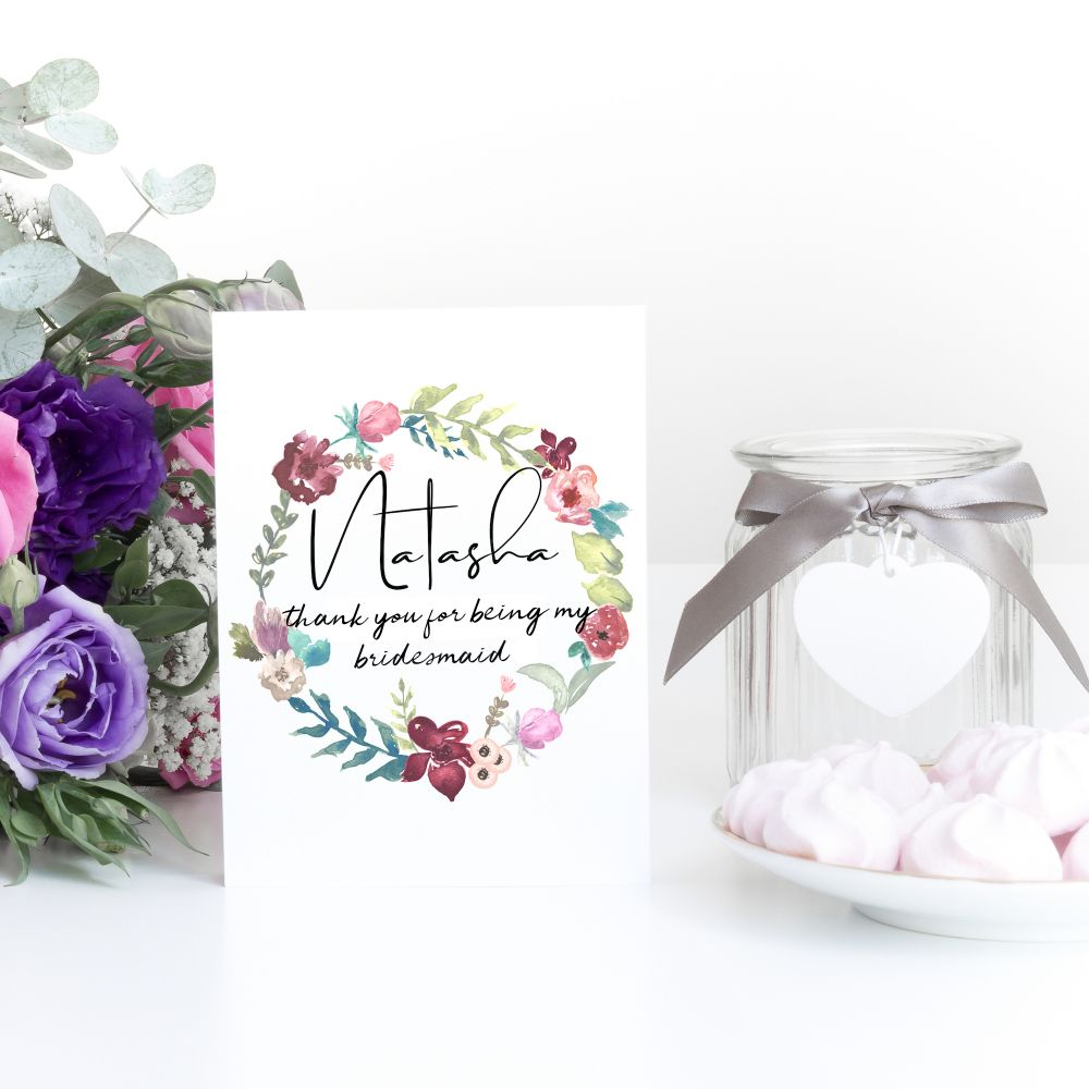 <!--001-->BRIDAL PARTY THANK YOU CARDS