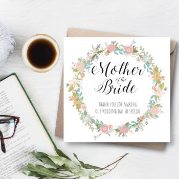 Fiori Garland Mother of the Bride Card