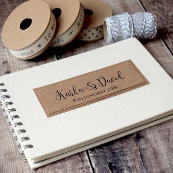 Classic Rustic Wedding Guest Book - A5 or A4