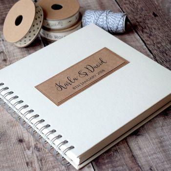 Classic Rustic Wedding Guest Book