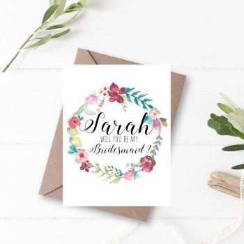 Botanical Garden 'Will You be my Bridesmaid?' Card