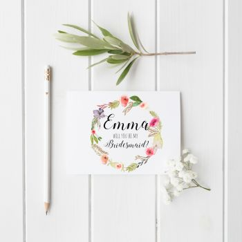 Floral Crush 'Will You be my Bridesmaid?' Card