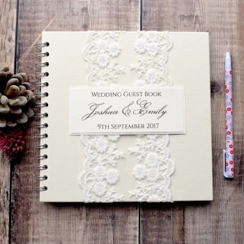 Antique Lace Wedding Guest Book