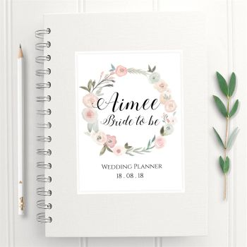 Pastel Rose Wedding Planner Book