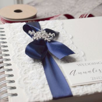 Vintage Snowflake Winter Wedding Guest Book