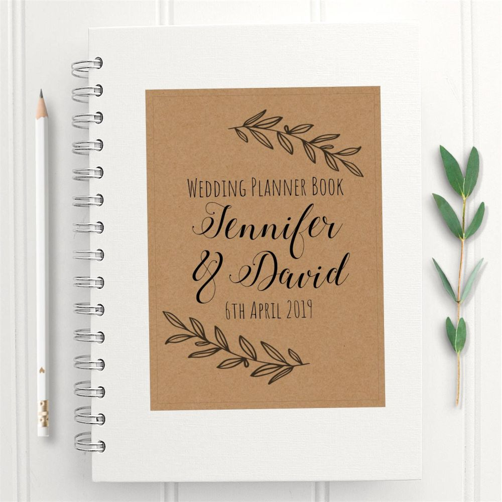 Laurel Print Wedding Planner Book