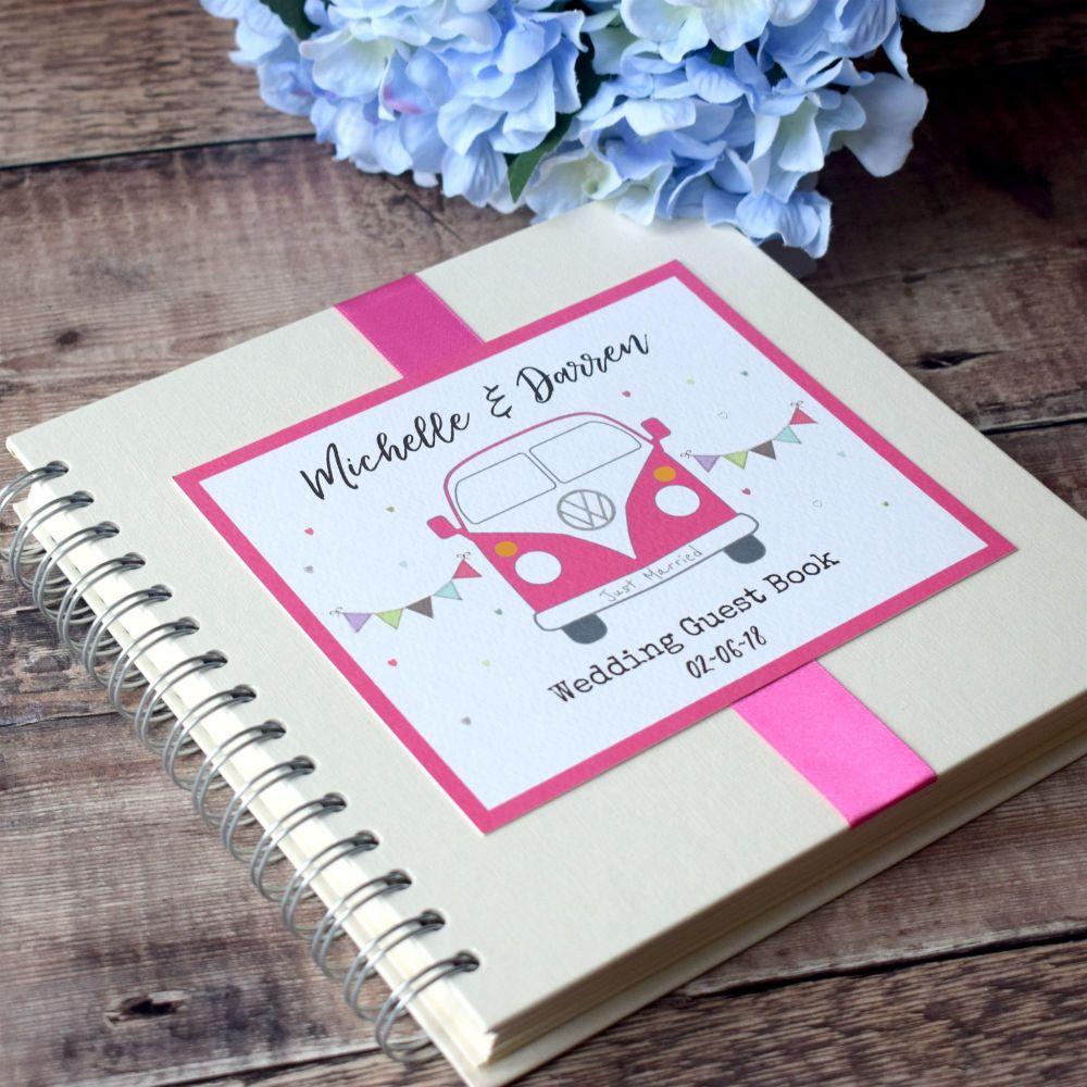 Campervan Personalised Wedding Guest Book