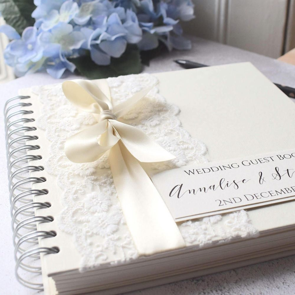 Vintage Bow Wedding Guest Book