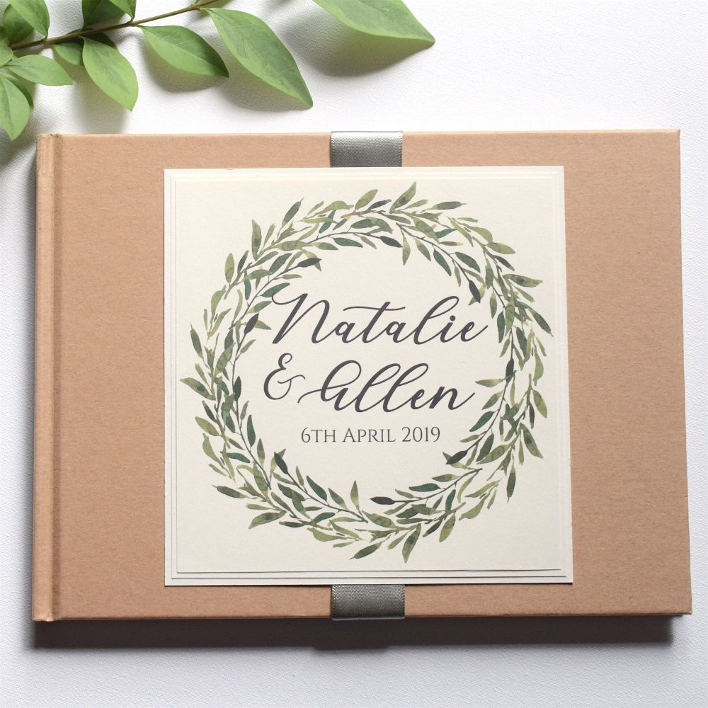 Botanical Laurel Kraft Wedding Guest Book