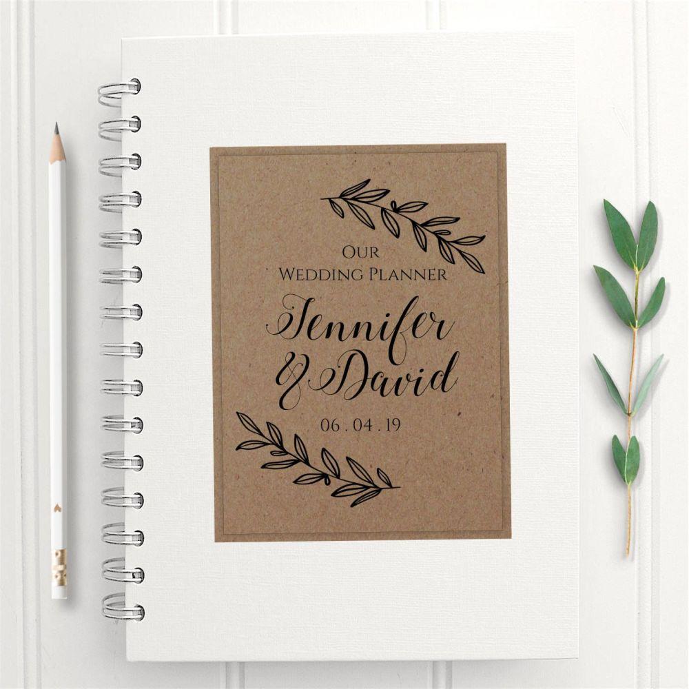 Rustic Laurel Wedding Planner Book