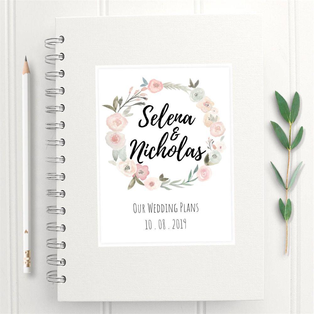 Pastel Rose Wedding Planner Book