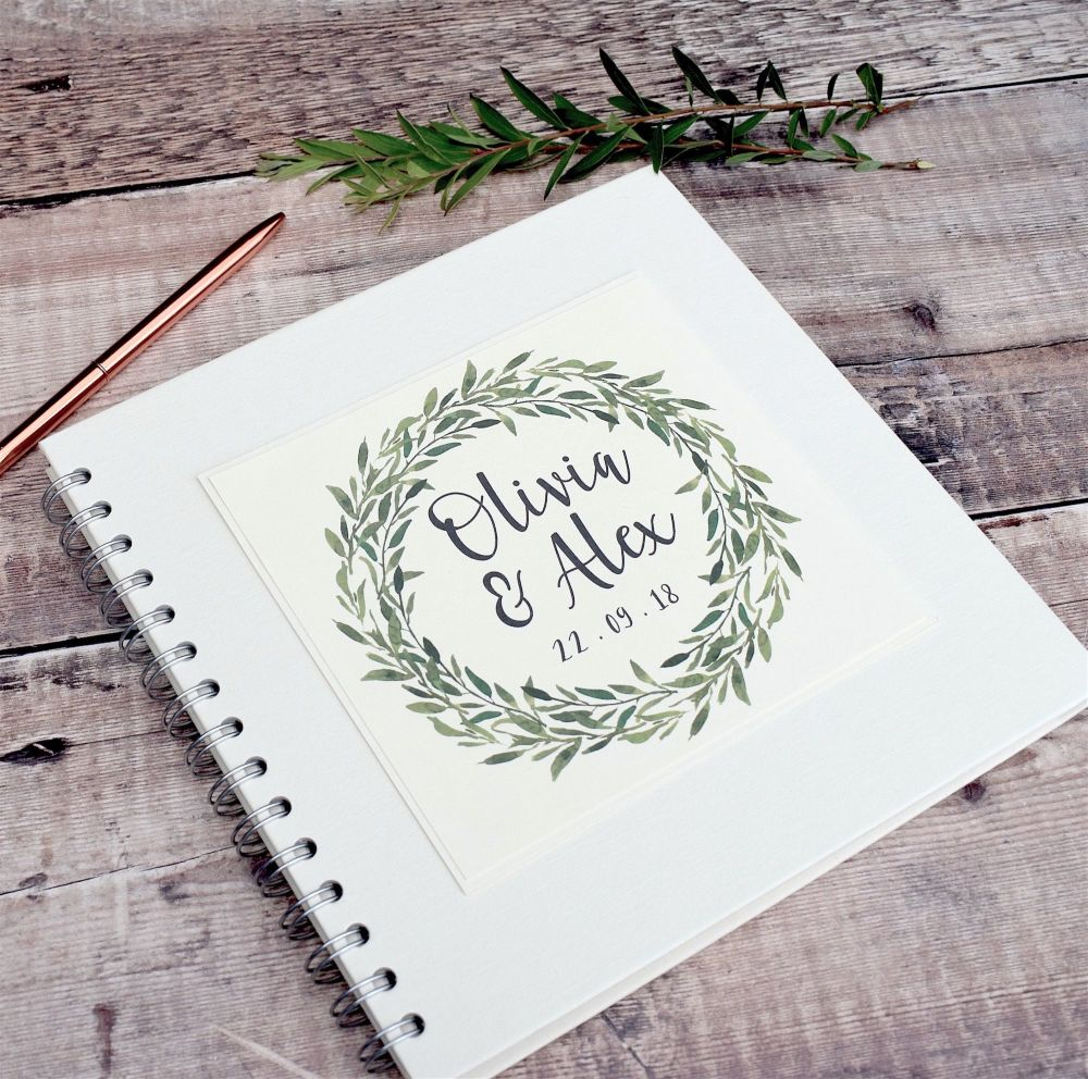 Botanical Laurel Wedding Guest Book