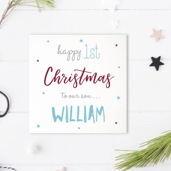 Baby's 1st Christmas Card Quirky Fonts