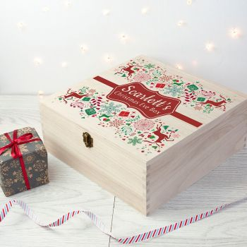 Traditional Wooden Christmas Eve Box