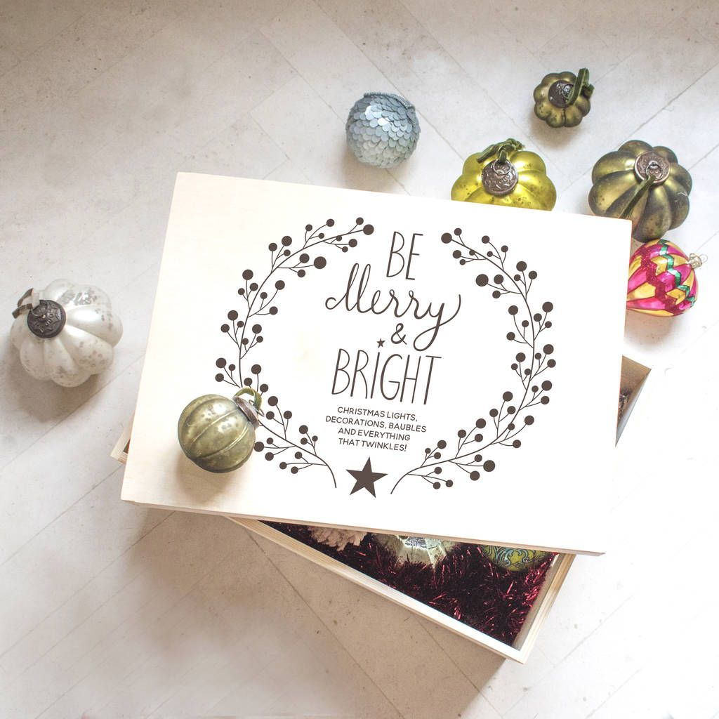 Be Merry and Bright Christmas Decoration Box