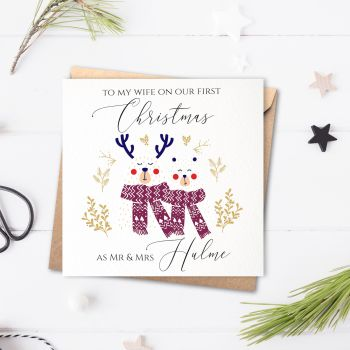 Snow Bears Our First Christmas as Mr & Mrs Card