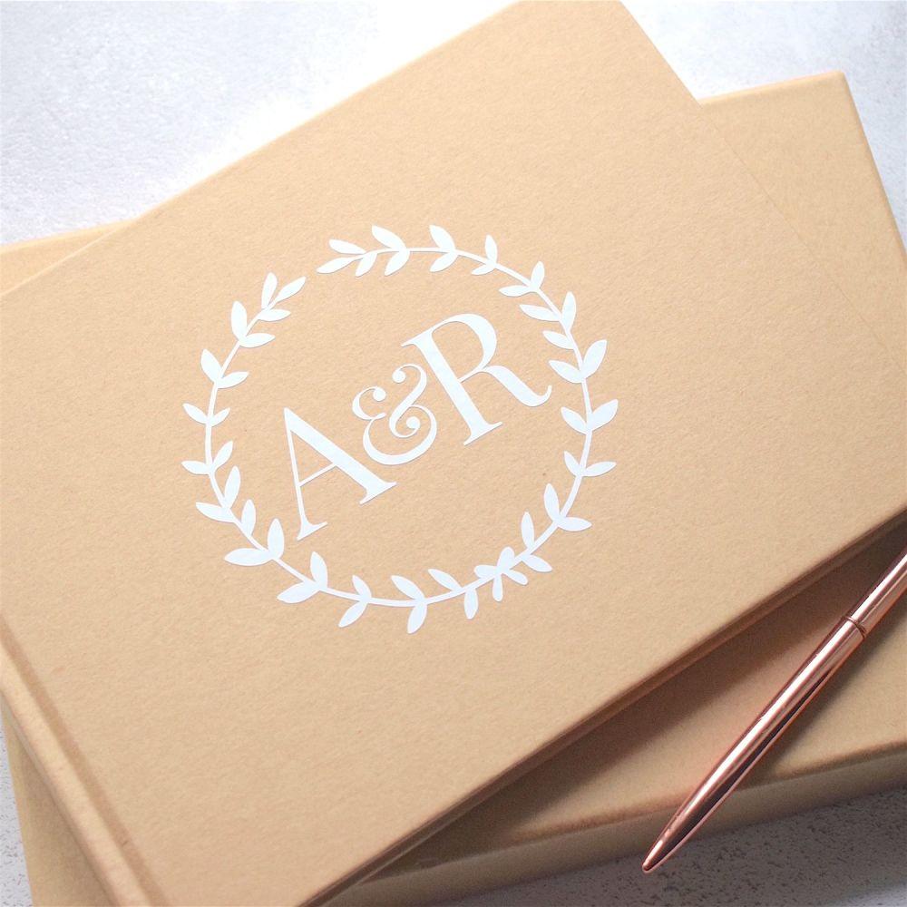 Rustic Laurel Wedding Guest Book