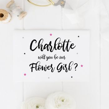 Will you be our Flower Girl Star Card