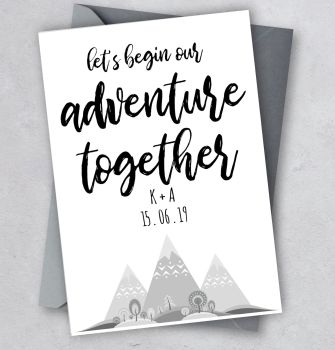 Let's Begin our Adventure Together Card