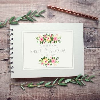 Rosaline Wedding Guest Book - Small A5 or Large A4