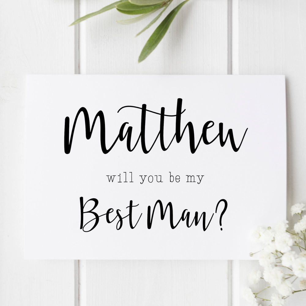 Best Man or Groomsman Proposal Card