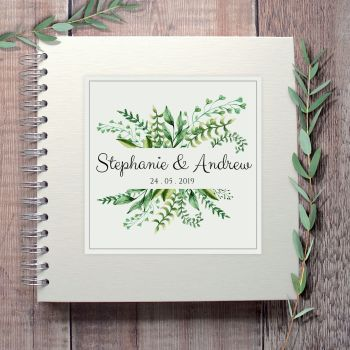 Botanical Ferns Wedding Guest Book