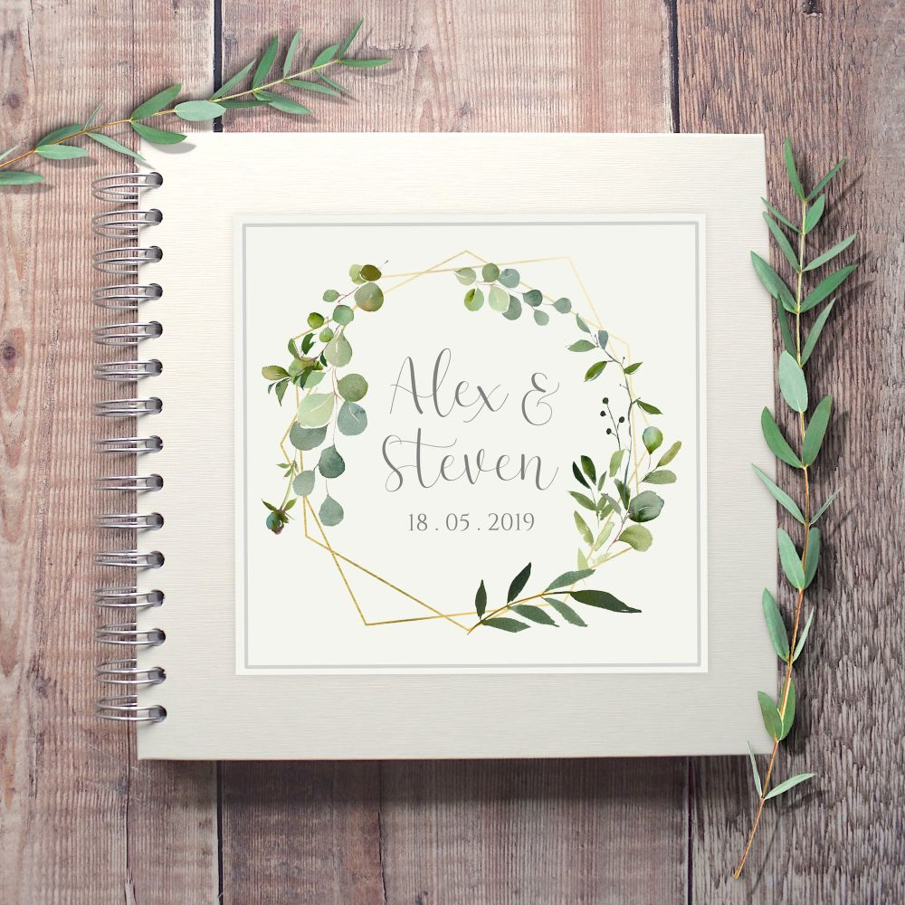 Botanical Square Wedding Guest Book
