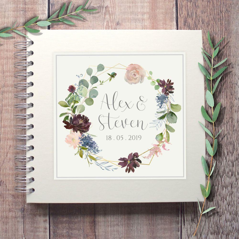 Botanical Floral Wedding Guest Book