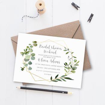Botanical Bridal Shower/Hen Night Invitations