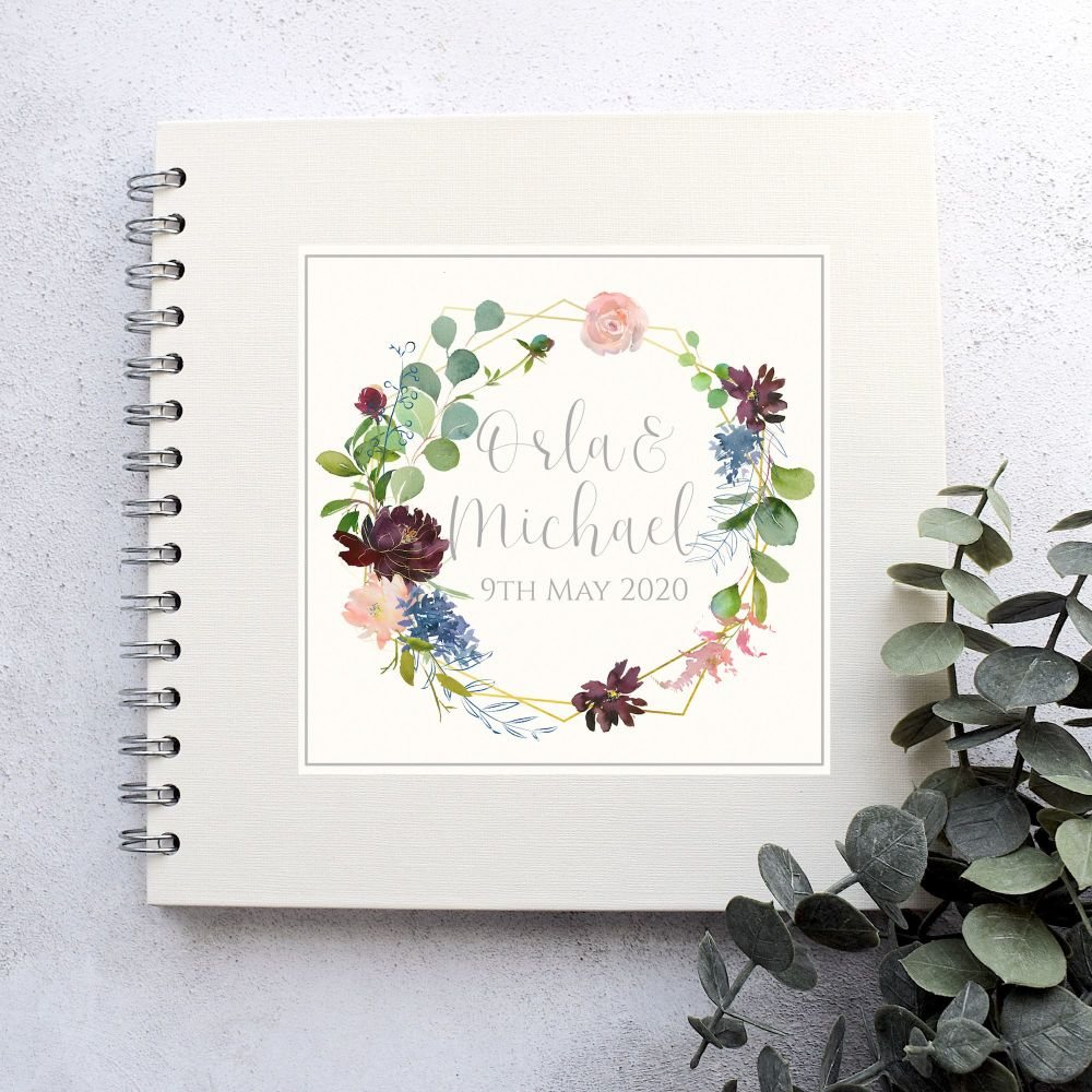 Botanical Floral Wedding Guest Book