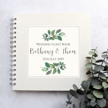 Botanical Leaf  Wedding Guest Book